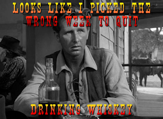 Looks like I picked the wrong week to quit drinking whiskey