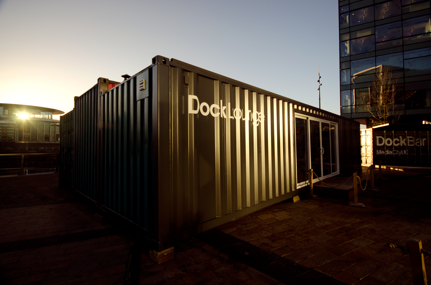 Shipping container homes whitecrate dockbar mediacityuk london 3 shipping container - Container homes london ...