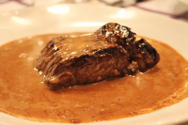 Pepper steak at Auberge Pyrénées Cévennes