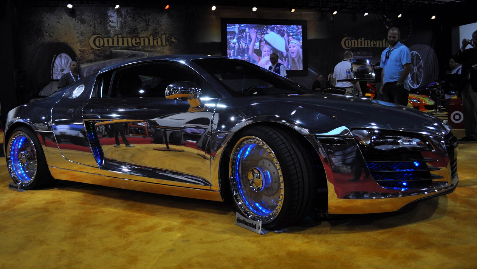 just a car guy i finally found a car at sema with see through acrylic rims and with a chrome. Black Bedroom Furniture Sets. Home Design Ideas