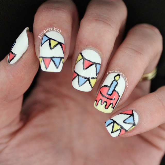 Nail Art Mash Up #4 - Birthday, M&M\'s, Minecraft & more!