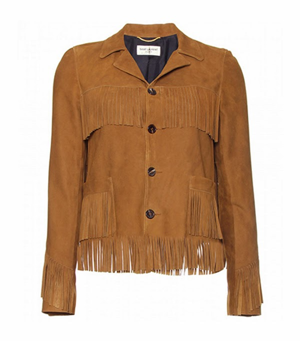 Saint Laurent fringe tasseled suede jacket