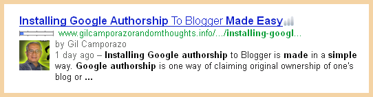 My Google Authorship