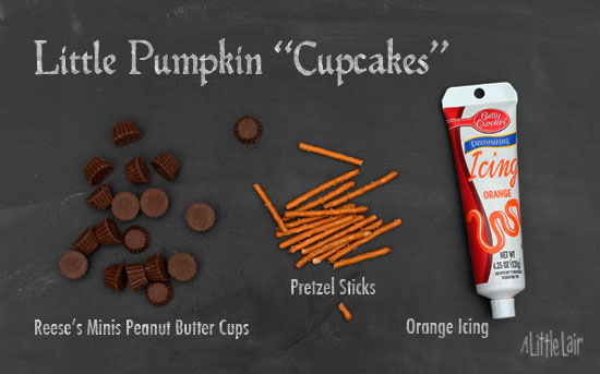 Supplies for Little Pumpkin Cupcakes. | A Little Lair.