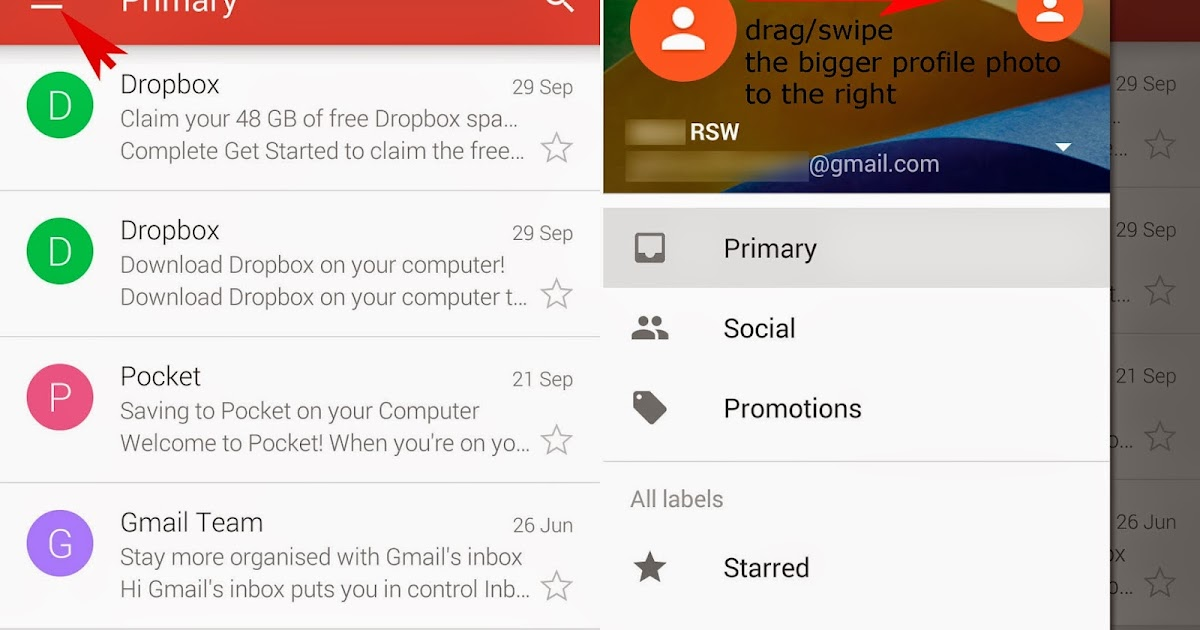 how to switch primary gmail accounts