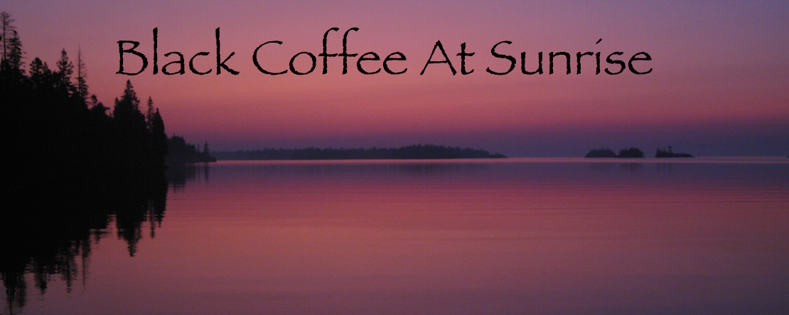 Black Coffee at Sunrise