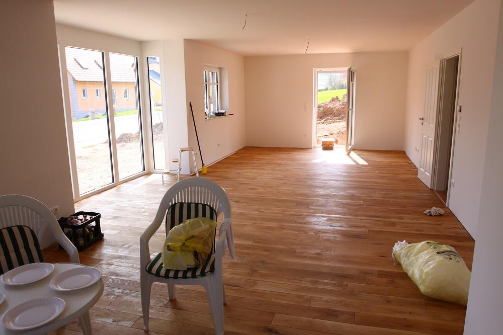 bautagebuch birkenallee mit gussek haus landhausdielen im wohnzimmer. Black Bedroom Furniture Sets. Home Design Ideas