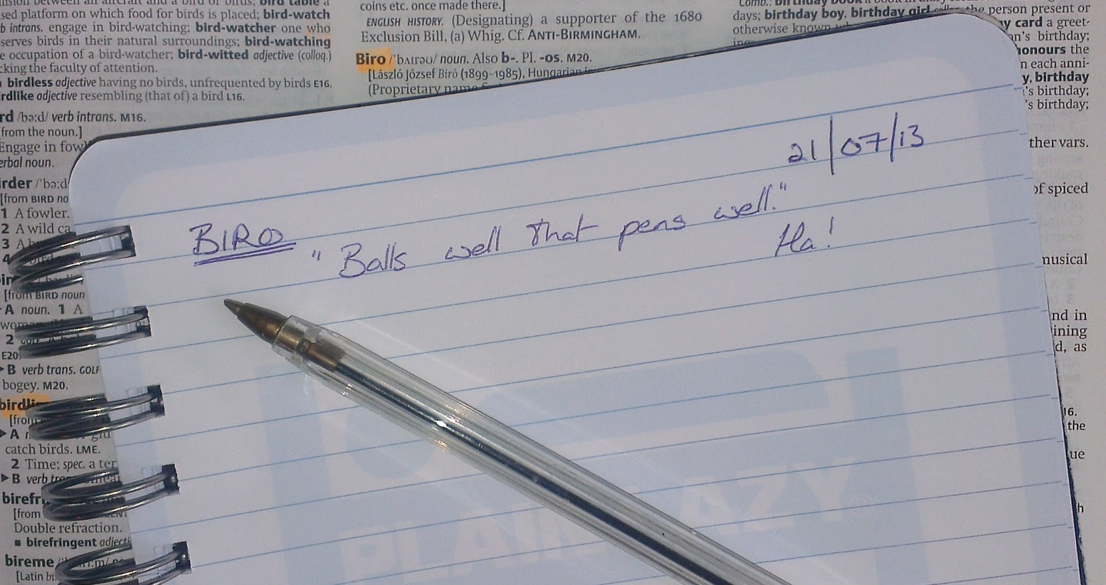 Lexicolatry: Biro - Balls Well That Pens Well