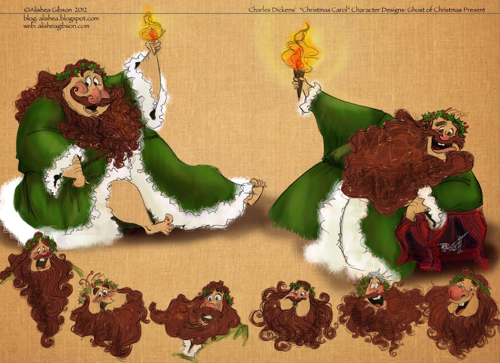 Art of Alishea Gibson: A Christmas Carol Character Designs