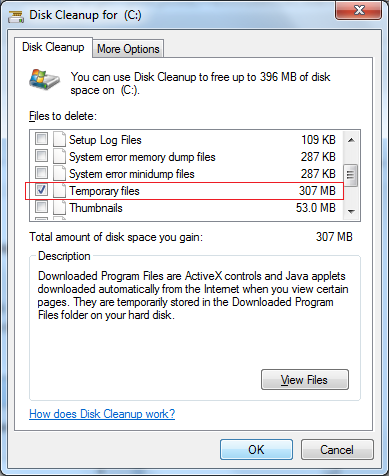 How to delete .tmpfiles
