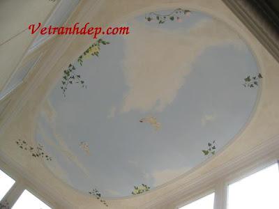 vẽ tranh tường trần nhà