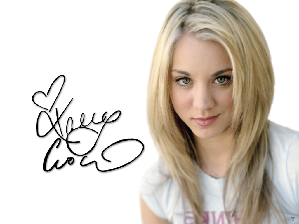 kaley cuoco with signature wallpapers 23695
