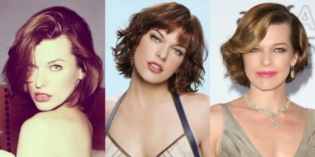 model rambut Milla Jovovich