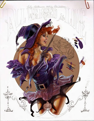 Halloween pin up girl