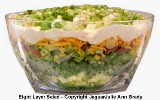 Beautiful Side View of my Artistic Eight Layer Salad
