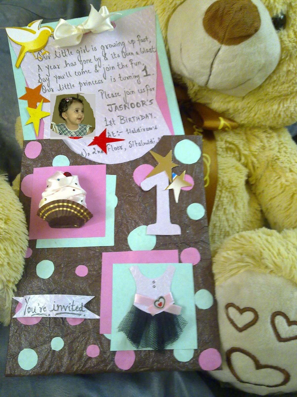 Happily Ever Crafter: Handmade Birthday Invitation Card