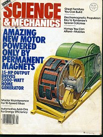 Science and mecanics amazing new motor powered only by permanent magnets