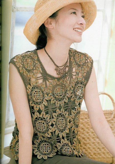 Mis labores en Crochet: Blusa de Girasoles