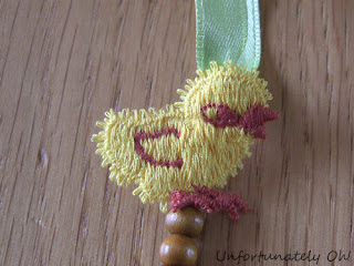 easter chick and ribbon necklace