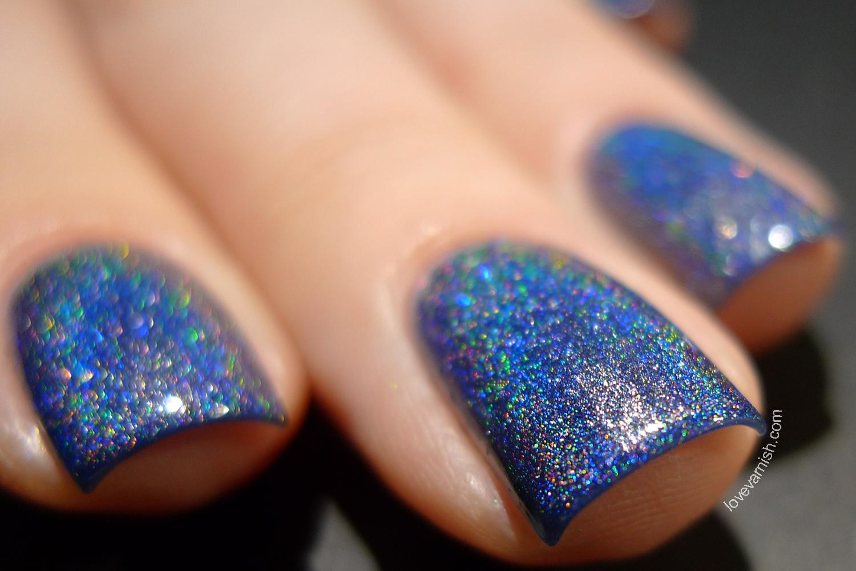 NailNation3000 Eve holographic blue nail polish