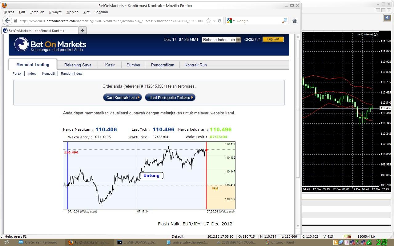 Trading forex dengan modal 1 juta