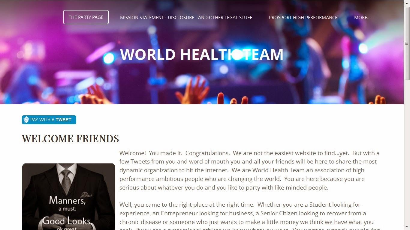 World Health Team Website