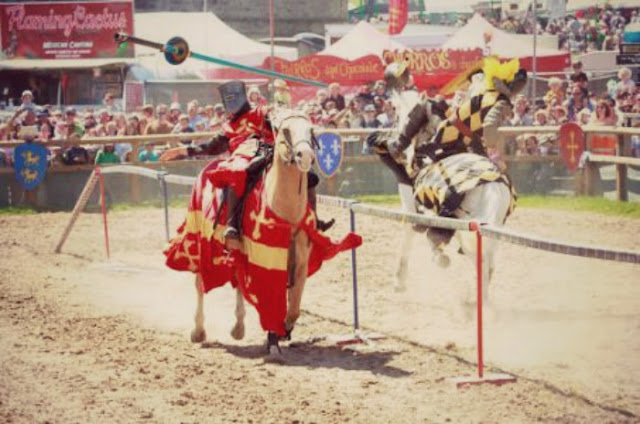 Camp Bestival Jousting