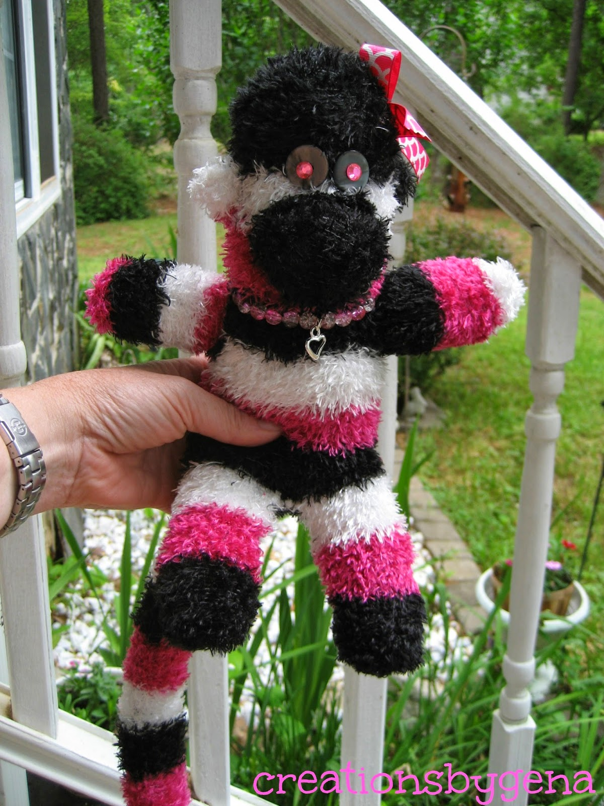https://www.etsy.com/listing/189236163/hot-pink-black-and-white-striped-fuzzy?