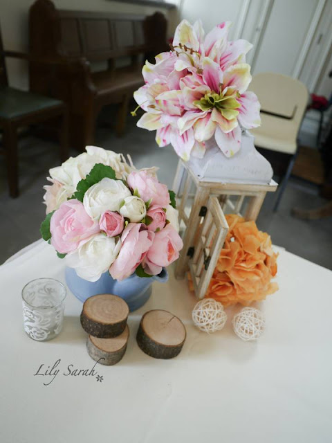 church wedding reception floral decoration by Lily Sarah