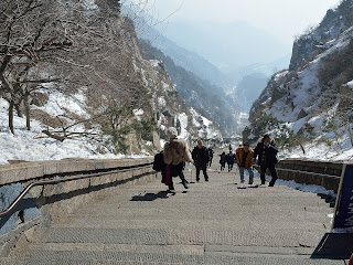 The last steps of Eighteen Bends at Taishan in Shandong Province