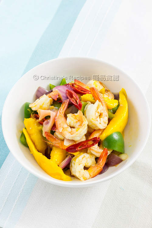芒果炒蝦球 【健康小炒】 Stir Fried Prawns with Mango