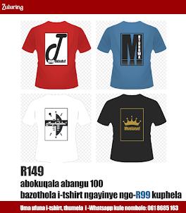 Ayatholakala ama-t-shirt anesithakazelo sesibongo sakho! Whatsapp: 061 8685 163