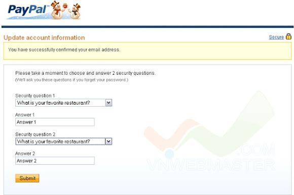 Hướng dẫn đăng ký và xác nhận tài khoản Paypal ở Việt Nam