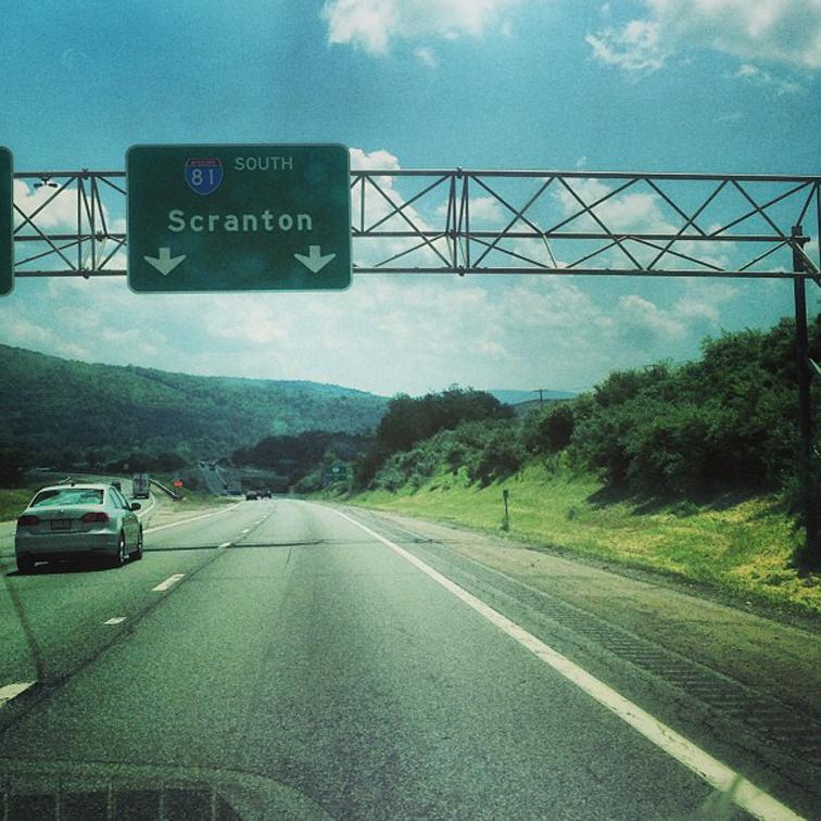 Road Trip Sign Scranton PA