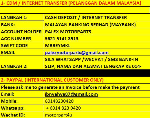PAYMENT / BAYARAN