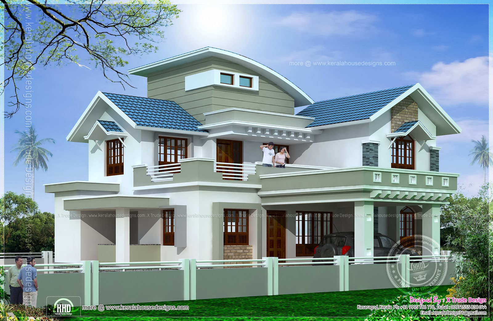 Beautiful 2138 Square Feet House Elevation Home Kerala Plans