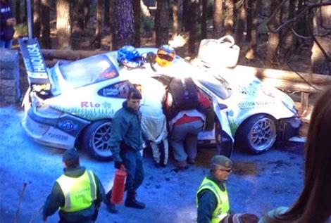 Salida de carrera Sergio Vallejo, Rally Islas Canarias