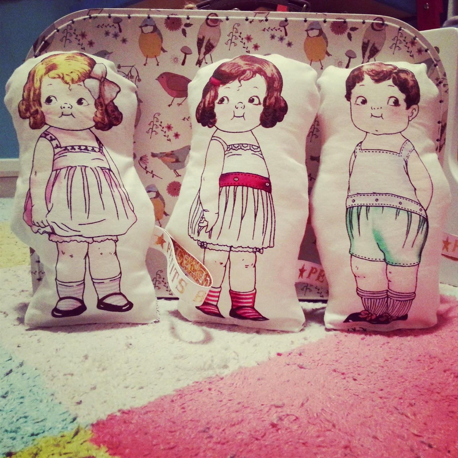 poupée vintage tissu