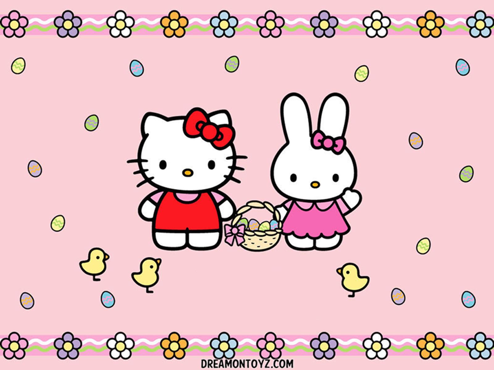 Wonderful Wallpaper Hello Kitty White - hk-easter_1600b  Image_59516.png