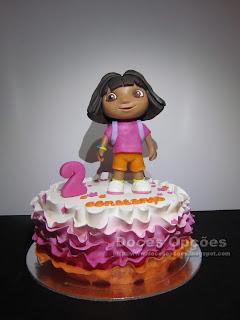 Bolo com a Dora a Exploradora