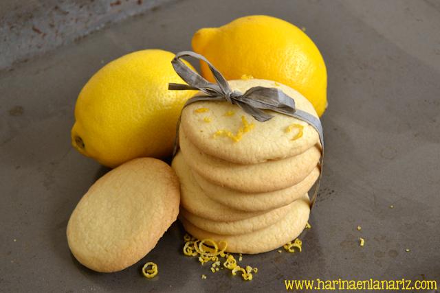 receta de galletas con ralladura de limón