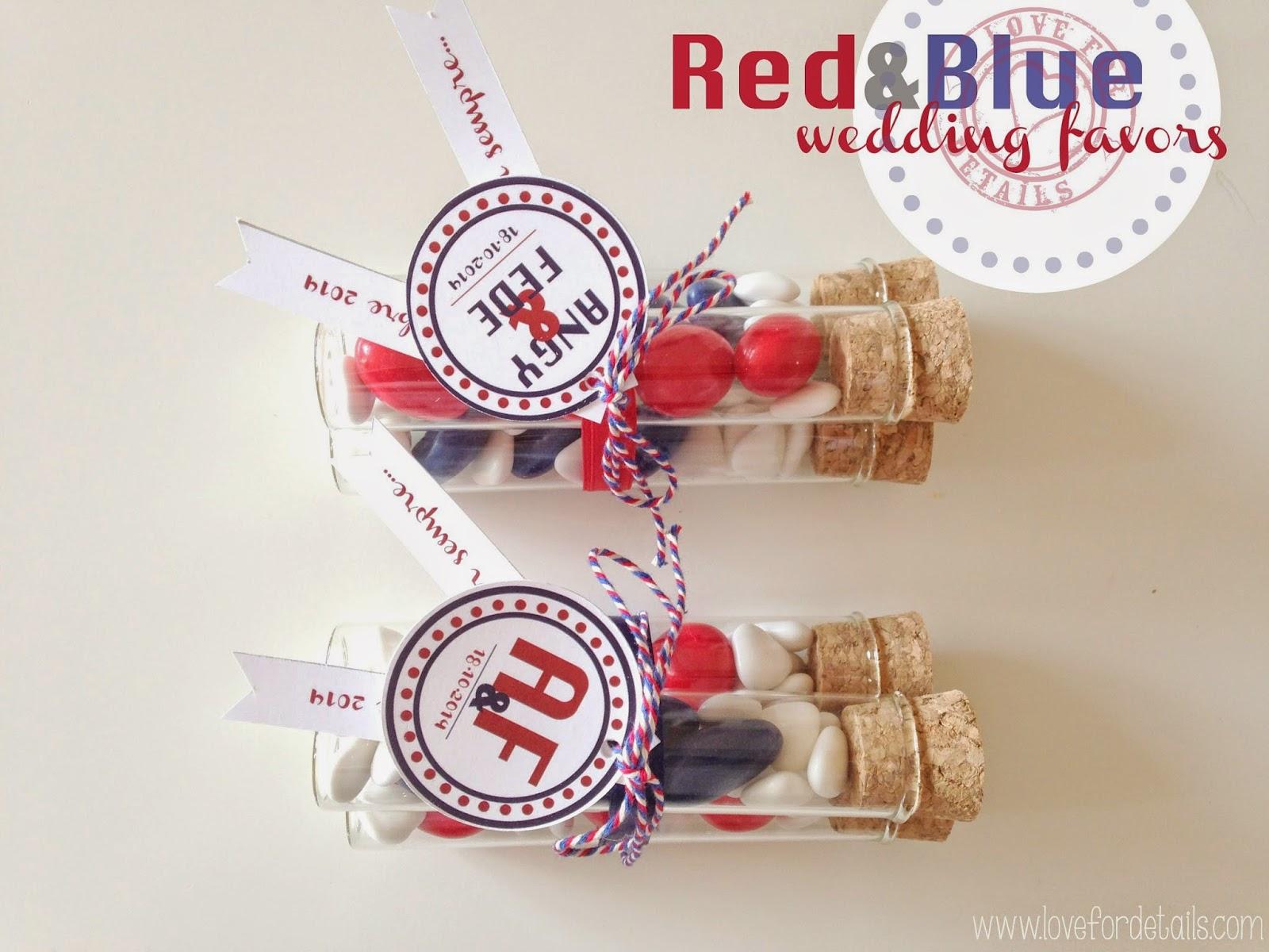 bomboniera matrimonio rosso e blu