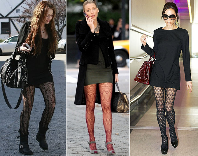 ... seems to be trending the most AGAIN this season? PATTERNED TIGHTS