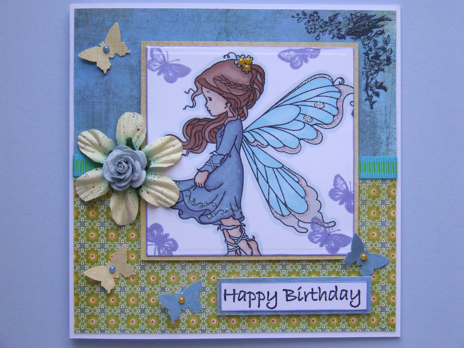Laughing ducks whimsy silver fairy stamped birthday card whimsy silver fairy stamped birthday card bookmarktalkfo Image collections
