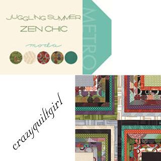 Moda JUGGLING SUMMER Quilt Fabric by Brigite Heitland of Zen Chic