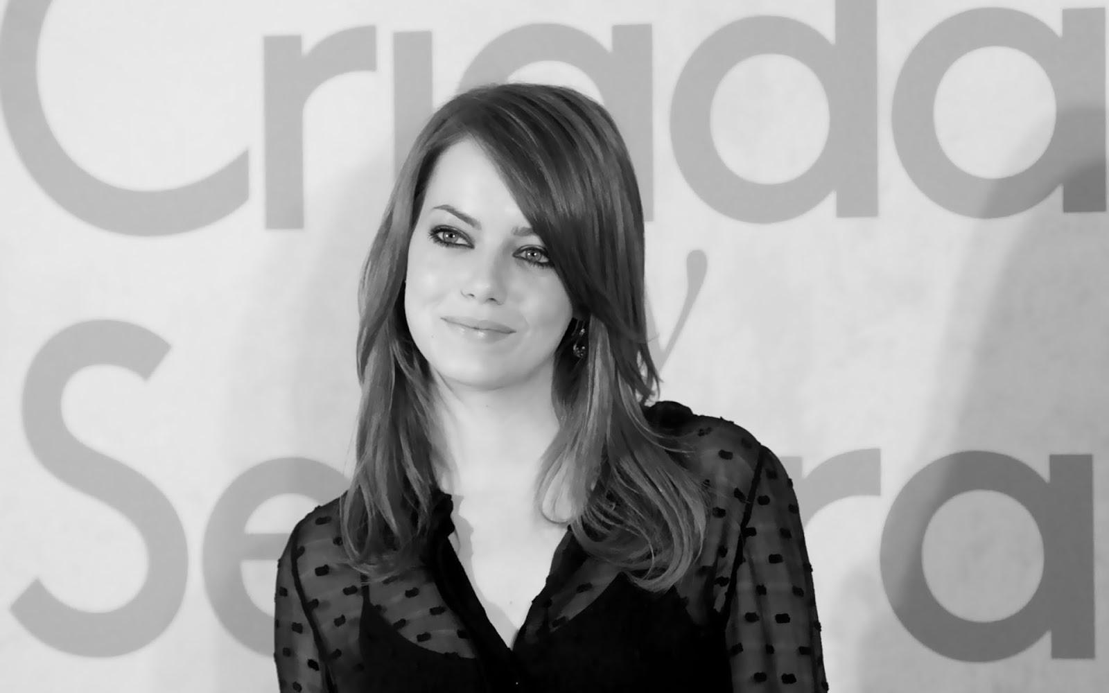 Emma Stone: Emma Stone Black And White Emma Stone Zombieland Hair