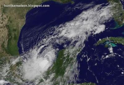 Tropischer Sturm NATE: Drastische Änderung des erwarteten Verlaufs, Golf von Mexiko, Nate, Mexiko, Veracruz, Tamaulipas, Texas, Satellitenbild Satellitenbilder, Verlauf, Zugbahn, September, 2011, Hurrikansaison 2011, aktuell,