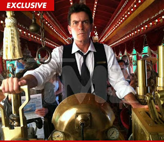 Charlie Sheen atropellado por un tren?