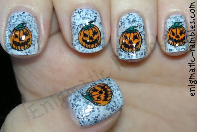 evil-pumpkin-nail-art-nails-stamping-acrylic-paint-B115-w7-salt-n-pepper-barry-m-mango