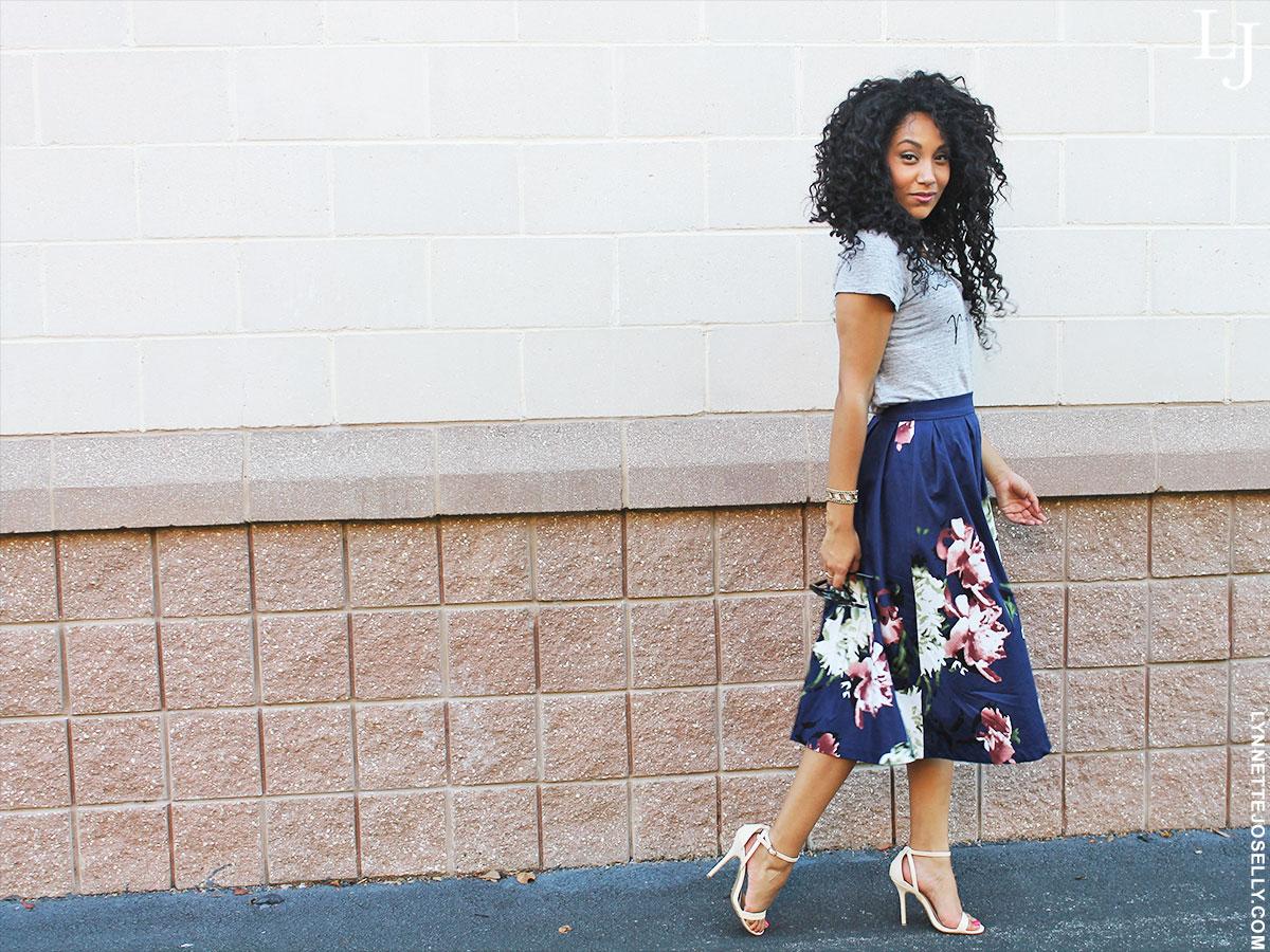 floral-print-skirt